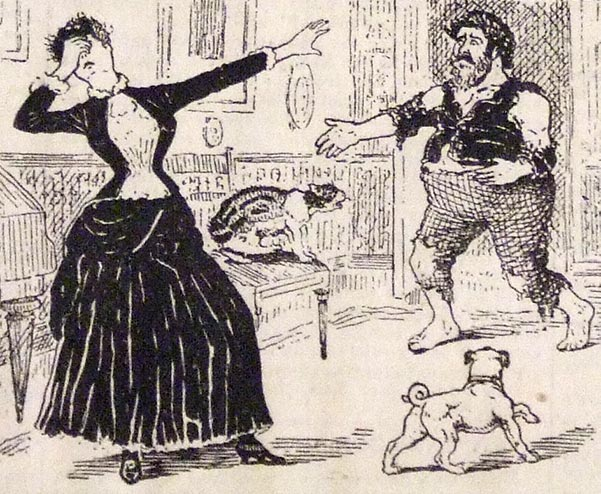 """Image for blog: """"Begone!"""" said she. """"I could never wed such a heavy swell."""" Scraps"""