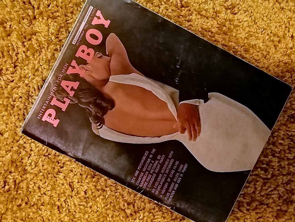Copy of Playboy on a yellow rug