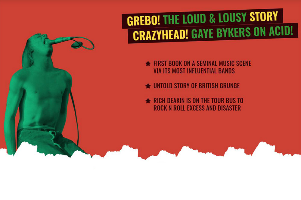 Grebo banner red with singing man