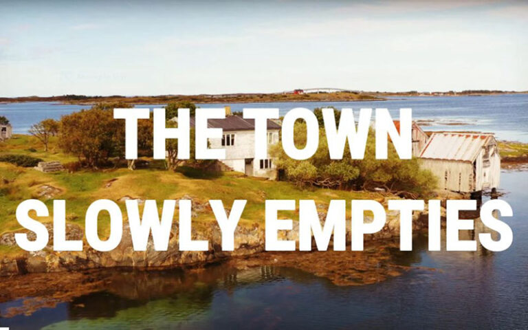 The Town Slowly Empties audio teaser title