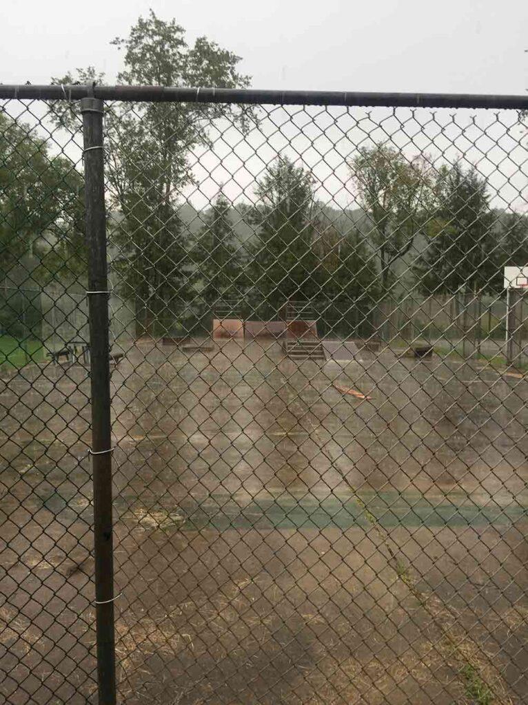 The skatepark in Spencer, West Virginia