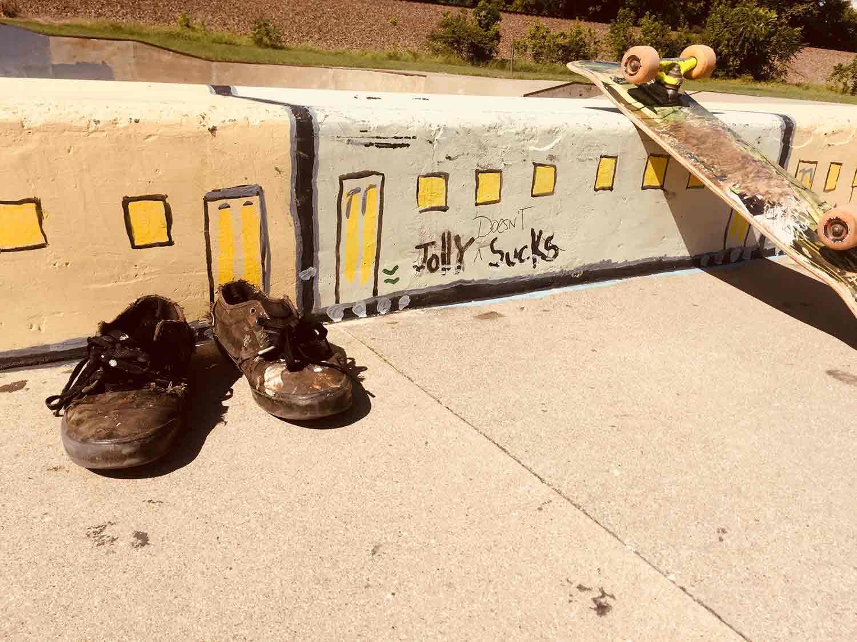 Skate shoes at Spencer, West Virginia