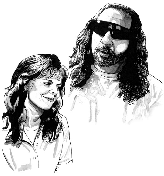 Drawing of Adam and Ronnie in Strangehaven