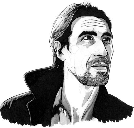 Drawing of Alex in Strangehaven
