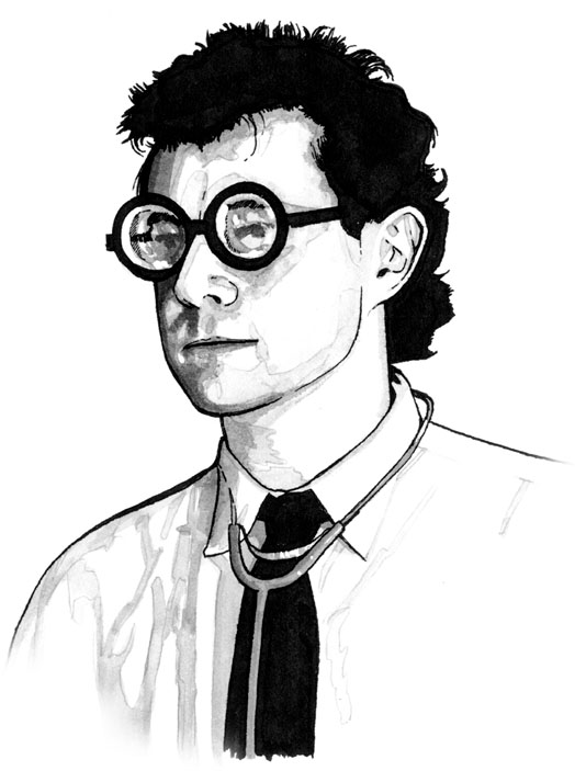 Drawing of the Doctor in Strangehaven